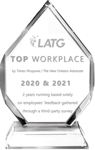 2020-20201 Top Place to Work Award from Times-Picayune & The New Orleans Advocate.
